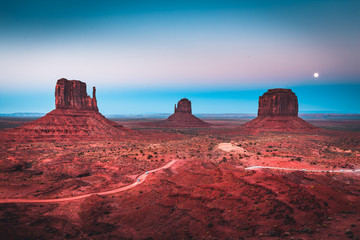 Wall Mural - Monument Valley in moonlight, Arizona, USA