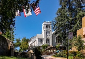 Exterior view of the Sonora United Methodist Church, California