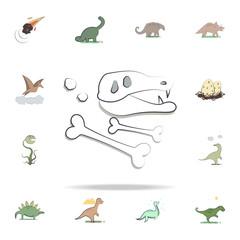 dinosaur petrifaction cartoon icon. Prehistoric icons universal set for web and mobile