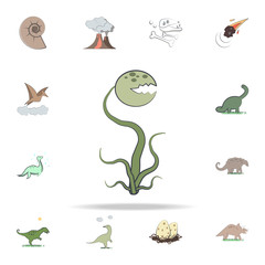 carnivorous plant cartoon icon. Prehistoric icons universal set for web and mobile