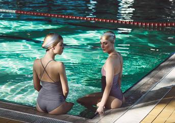 Portrait of Two Women Swimmers