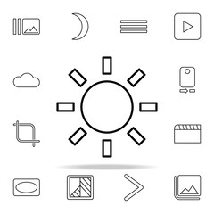 Sunny sign icon. Image icons universal set for web and mobile