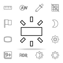 White balance sign icon. Image icons universal set for web and mobile