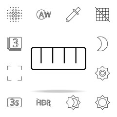 Ruler sign icon. Image icons universal set for web and mobile