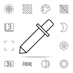 Pipette sign icon. Image icons universal set for web and mobile