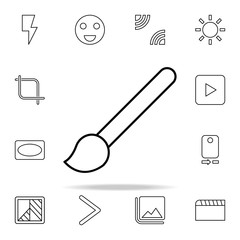 Brush sign icon. Image icons universal set for web and mobile