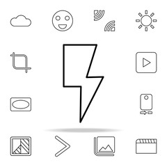 Flash sign icon. Image icons universal set for web and mobile