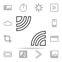 Portrait sign icon. Image icons universal set for web and mobile