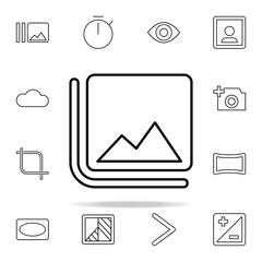 Flip sign icon. Image icons universal set for web and mobile