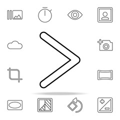 HDR sign icon. Image icons universal set for web and mobile