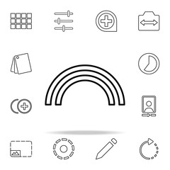 Blur sign icon. Image icons universal set for web and mobile