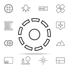 Frame sign icon. Image icons universal set for web and mobile