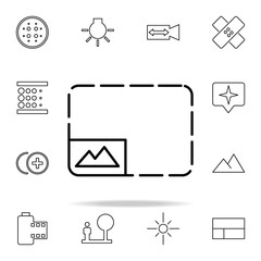 Photo mark sign icon. Image icons universal set for web and mobile