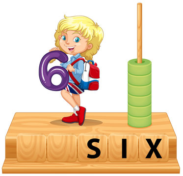 Math abacus number six