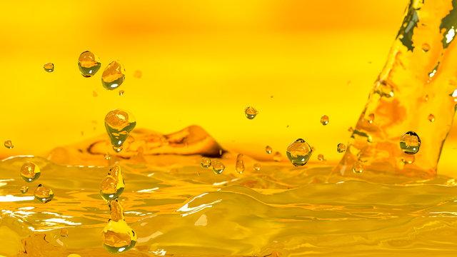 Pouring oil car motor