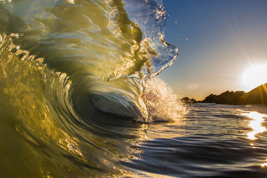 Rocky Sunrise Shorebreak