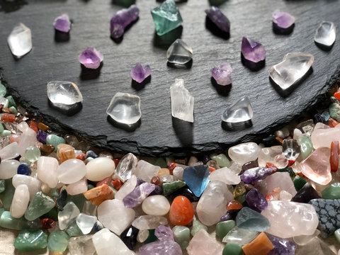 Natural crystal stone, designed to set the mandala pattern