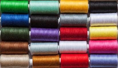 Colorful yarn rolls