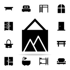 picture glyph icon. Furniture icons universal set for web and mobile