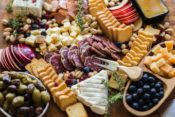Gourmet Meat and Cheese Board