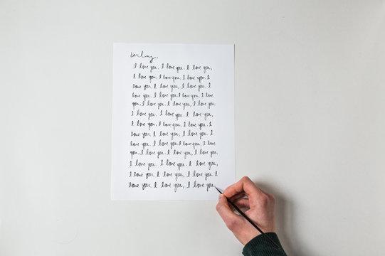 "Writing """"I Love You"""""