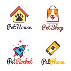 pet shop logo set variety pack