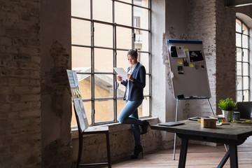 Businesswoman in a modern office