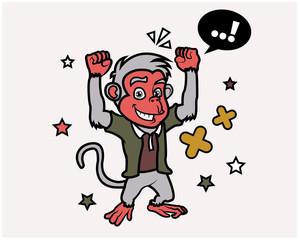 Hipster Monkey Cartoon T Shirt