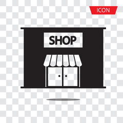 Shop or store, supermarket icon vector isolated on white background.