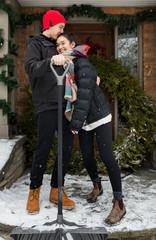 Teen Couple in Winter