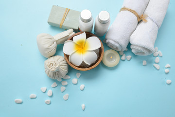White Spa set with flora