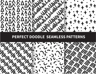 zdoodle seamless patterns. beautiful classic linear and dot style