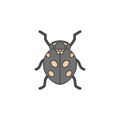ladybug colored outline icon. One of the collection icons for websites, web design, mobile app