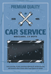 Car radiator repair and service, vector