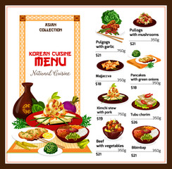 Korean spicy restaurant food dishes