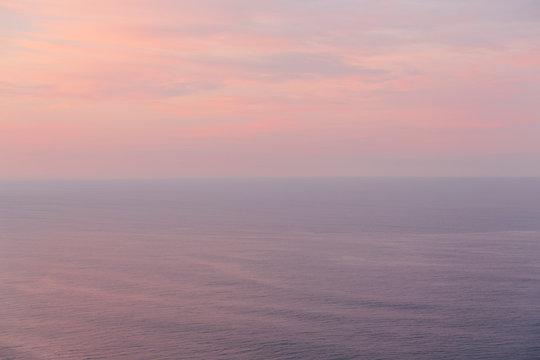 Serene seascape at dawn