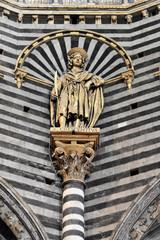 Details, Dom von Siena oder Cattedrale di Santa Maria Assunta, Siena, Toskana, Italien, Europa