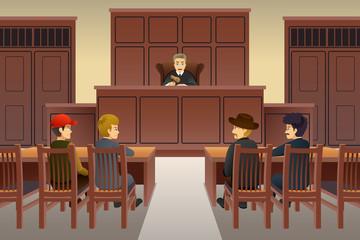 Court Scene Illustration