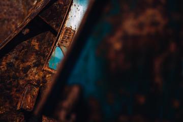 Rusty boat part