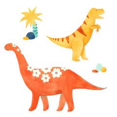 Watercolor dinosaur vector illustrtion