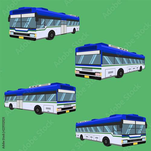3d the bus driver fare passenger autobus omnibus coach rail bench