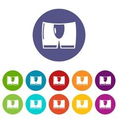 Men brief icon. Simple illustration of men brief vector icon for web
