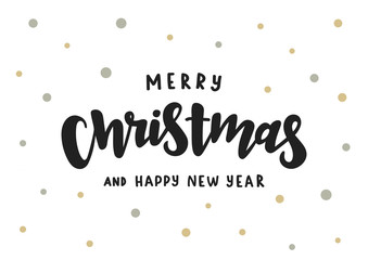 Merry Christmas and Happy New Year handlettering