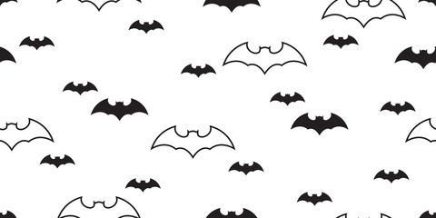 bat seamless pattern Halloween vector Dracula scarf isolated ghost flock illustration repeat wallpaper tile background