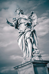 Statue of Angel with the Nails. Rome, Italy