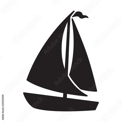 boat vector logo icon sail sailboat yacht ship anchor helm