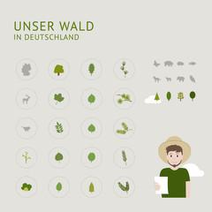 Unser Wald in Deutschland - Icons