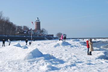 Fototapeta Kołobrzeg zimą