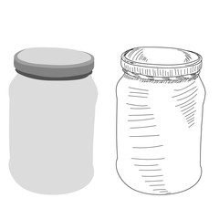 vector, on a white background, a jar with a lid