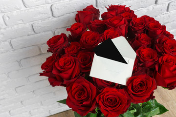 Luxury bouquet made of red roses